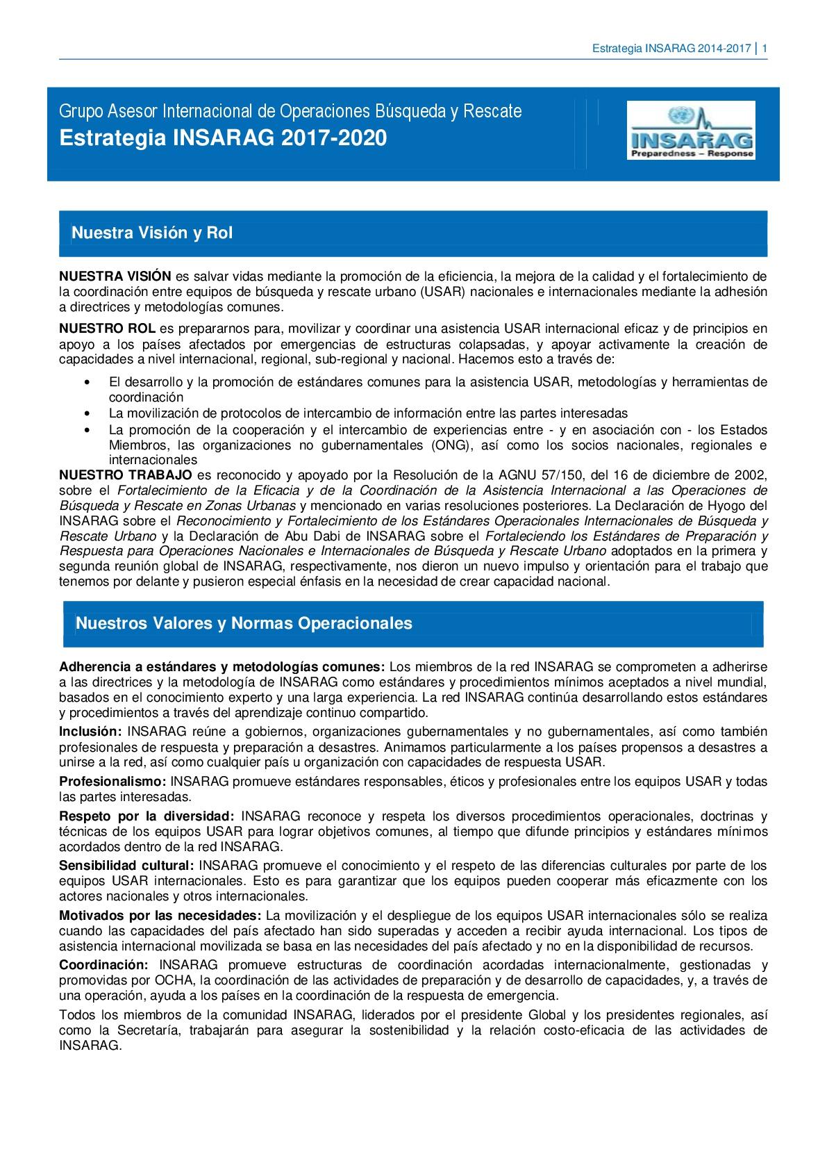 Final INSARAG Strategy 2017 2020 SPA 001